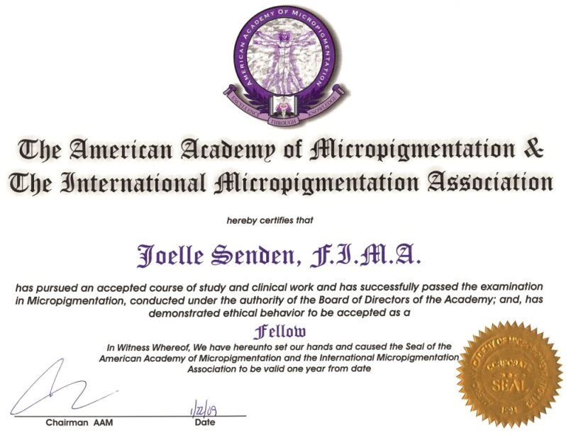 diplomate american academy micropigmentation